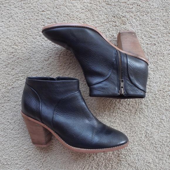 f341b03cd0e1 Joe Fresh Shoes - Joe Fresh Genuine Leather Stacked Heel Ankle Boot